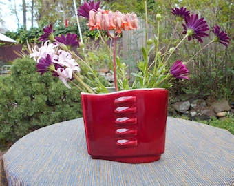 Small Red Wing Vase