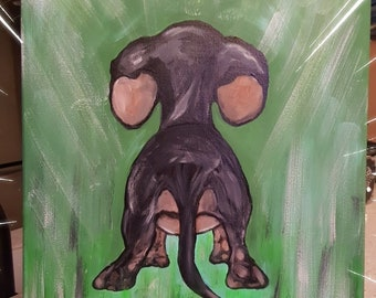 Dachshund puppy painting