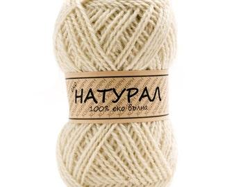 Wool, organic wool,sheep organic wool, naturals colors, Wool yarn, wool knitting yarn - 300g