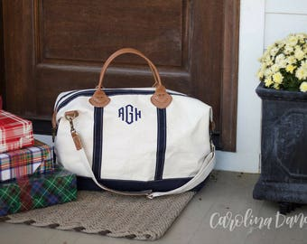 Monogrammed Weekender Bag- Monogram Duffle Bags for Women- Monogram Overnight Bag- Hospital Bag- Personalized Luggage- Gifts for her