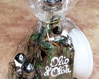 """Cruet cello dipping set with s/p and 3"""" dipping dish"""