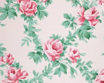 99032 -  Verna Mosquera Veranda - Rose Vine in Lace color  OCVM001 -Laminated cotton -  1/2 yard