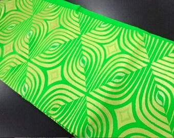 Nagoya obi green gold, vintage Japanese obi with Geometric pattern, silk obi belt, vintage obi, green gold_0001