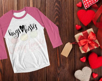 Hugs & Kisses Valentines Raglan Children