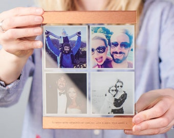 Personalised Glass And Copper Photo Print