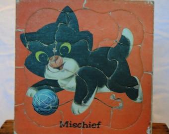 Vintage Mischief Kitty Puzzle