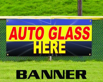 Auto Glass Repair & Replacement Services Windshield Business Vinyl Banner Sign