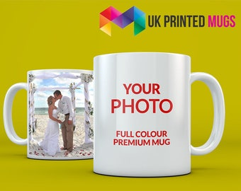 Premium Personalised Photo Mug - Full Colour