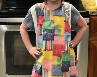 Children's Handsewn Apron For Cooking or Art