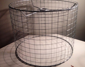 Square lampshade etsy large square chickenwire chandelier wire lampshadae greentooth Choice Image