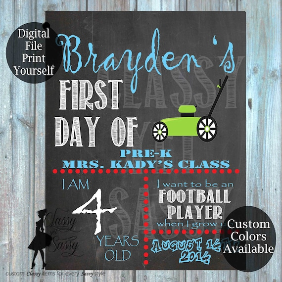 First Day Of School Chalkboard Sign 164
