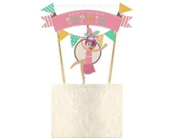 Carnival Cake Topper, Circus Cake Topper, Carnival Party Decor, Circus Party Decor, Carnival Party, Circus Party, Pick Circus Party, Pink
