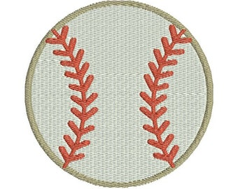 Baseball with fill Machine Embroidery Designs 4x4 & 5x7 Instant Download Sale