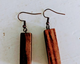 The Wanda Earring -- Reclaimed Wood Earrings