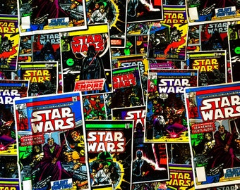 Star Wars Retro Comicbook Fabric By The Yard