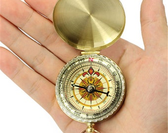 CUSTOM Engraved Compass, personalized engraved compass. Front and/or back engraving