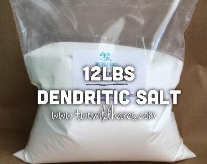 12lbs. DENDRITIC SALT, Fine Grain, Anchors Scent, Keeps Salts From Clumping