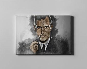 Hugh Hefner canvas print wall art home decor