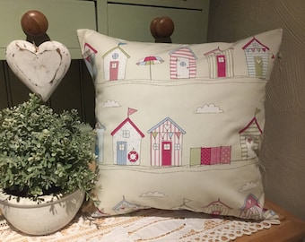 Fryetts 'Beach Huts' Beautiful Cushion Cover