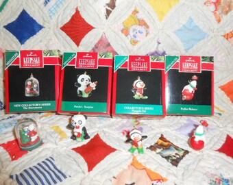 Hallmark Keepsake Miniature Ornaments-Four New Old Store Stock 1990-1992- #1