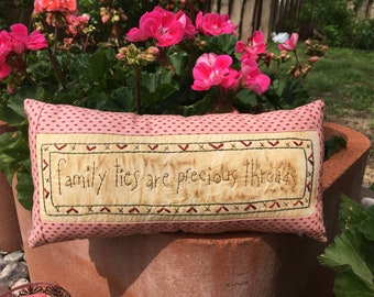 Inspirational Spring Pillow - Primitive Spring Home Decor - Spring Decoration - Country Decor - Rustic decor - Hand Embroidered Pillow