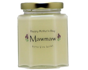 MAWMAW Mother's Day Candles - You Select The Scent and Decoration - Mothers Day Gifts