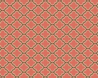 Joel Dewberry Fabric, True Colors, Lodge Lattice, Salmon -  FAT QUARTER SALE