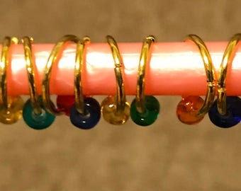 Handmade Round O Ring Stitch Markers for Knitting - Choose your quantity!