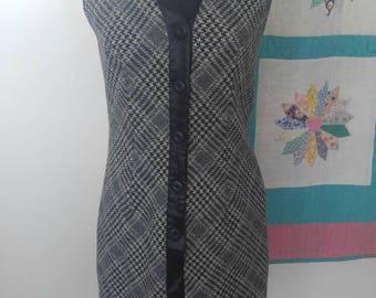Vintage wool sleeveless dress from 1940's size M