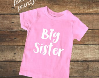Big Sister Shirt Girls Shirt New Sister Pink big sis shirt