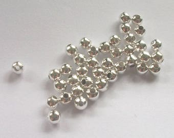 4mm Silver plated brass round smooth SPACER Beads choose quantity 100 and 1000 piece packages