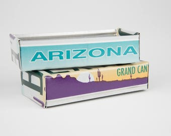 Arizona license plate box - father's day gift - gift for mom's dad's and grad's - teacher gift - graduation gift - graduation gift box