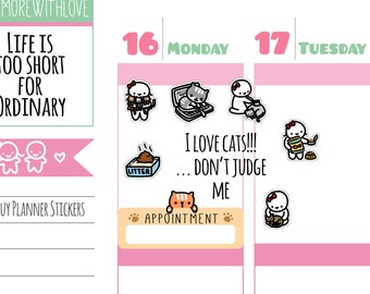 Munchkins - Cat Lady Planner Stickers (M218)