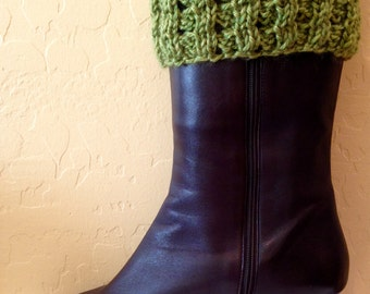 Beautiful Hand Knit Boot Cuffs Boot Toppers (BC-03)