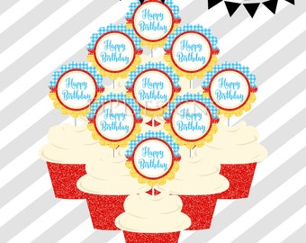 Wizard of Oz Cupcake Toppers and Wrappers