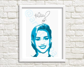 Miley Cyrus Printable Art with signature