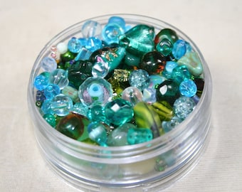 BeadBonanza#2-Teal, turquoise, green bead assortment