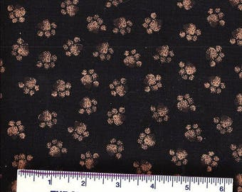 Timeless Treasures Fabric - MUDDY DOG PAWS -Dog Prints - Feet - Brown Puppy Paws ~ 100% Cotton - Quilt Shop Quality ~ By the Yard