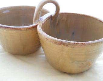 Ensemble bol en céramique Dip à la main