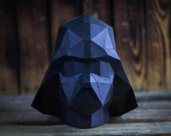 3D papercraft, darth vader, PDF, GIFT diamond tamplate