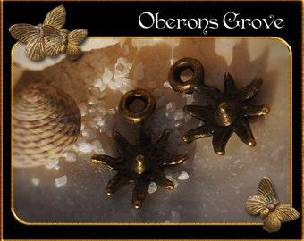 10 Sporen Charms bronze 10x12mm