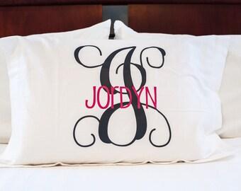 Monogrammed Pillow Sham-Case