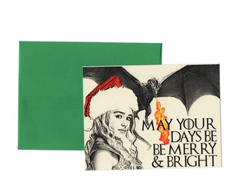 May Your Days be Merry and Bright // Mother of Dragons // Christmas Card