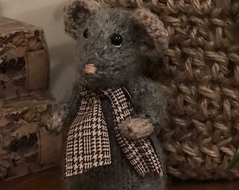 Hand Knitted cute little mouse