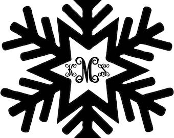 Winter Snowflake Monogram  sticker Leave me your initials