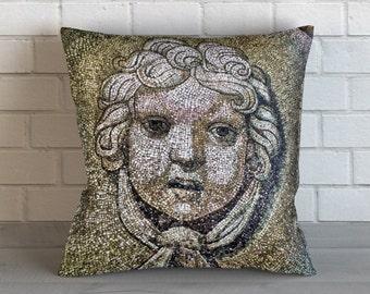 Cherub Mosaic Pillow