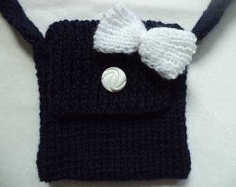 Knitted bag 17 cm