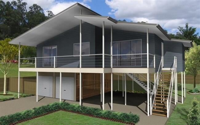 150m2 | 3 Bed + 2 Bathrooms | Hi Set Design | High Set House Plan | Modern  High Set Design| Two Storey| Beach Cottage |pole Home Plan Sale