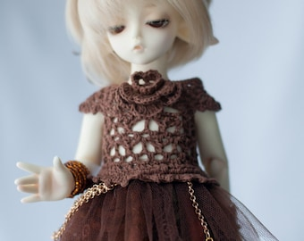 Mori dress for 1/6 tiny BJD Yo-SD/Littlefee size dolls.