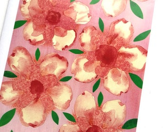 Pink Lisianthus Greeting Card